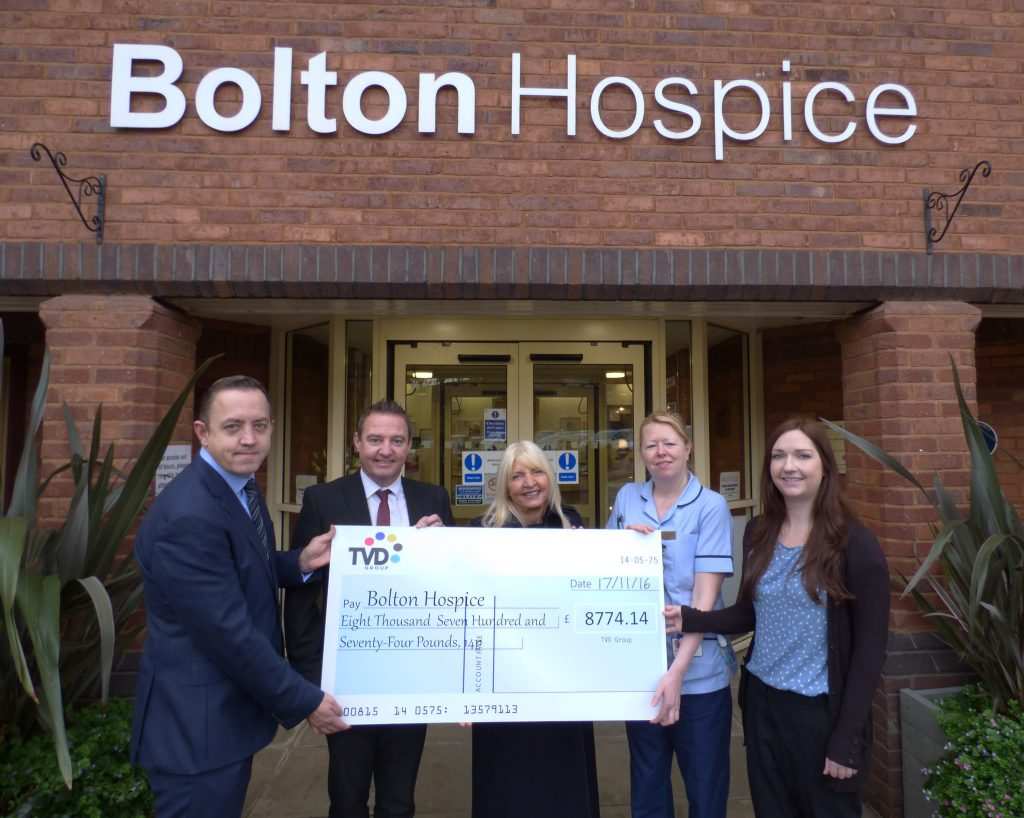 TVD Group Hospice Cheque
